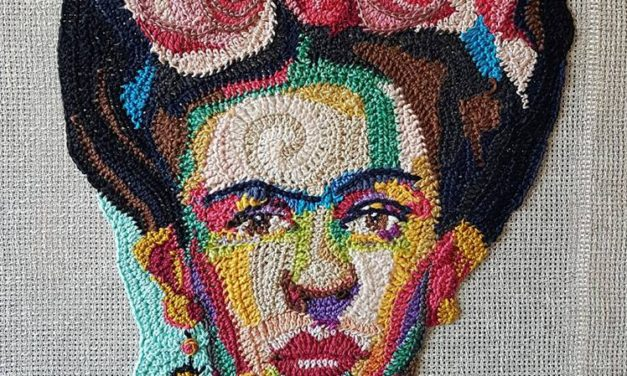 Amazing Crochet Portrait of Frida Kahlo By José Dammers