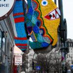 Fantastic Fish Yarn Bomb Spotted in Hamburg, Germany – It's Piranha Time!
