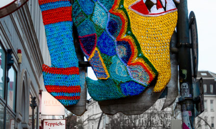 Fantastic Fish Yarn Bomb Spotted in Hamburg, Germany – It's Piranha Time!