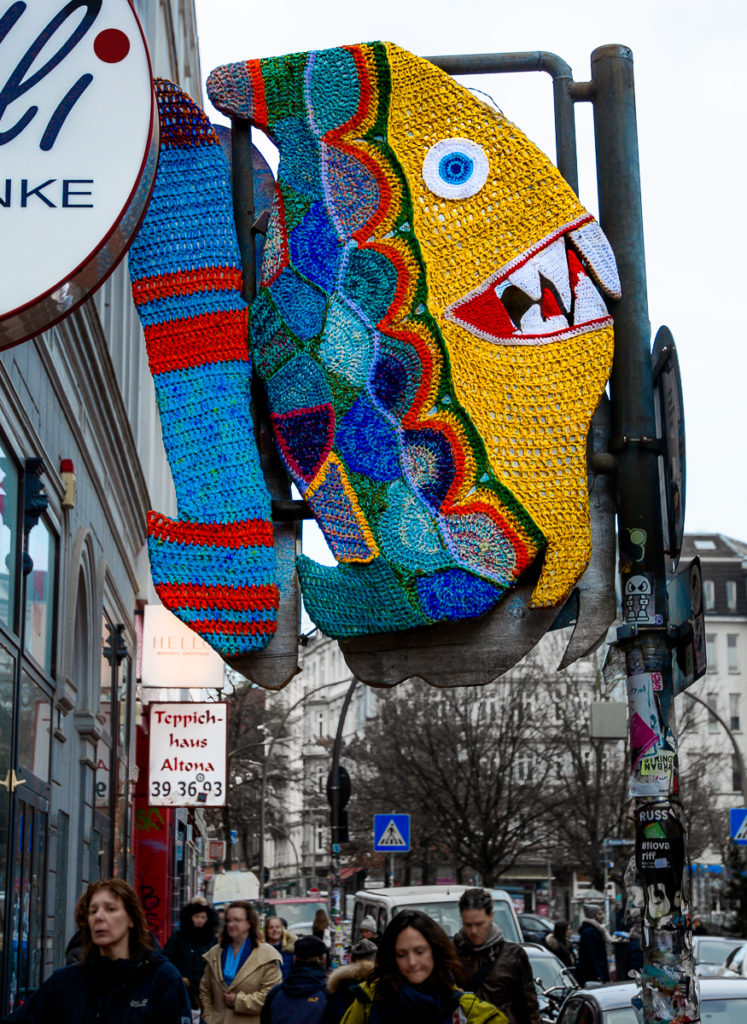 Piranha Yarn Bomb, photographed by Pilot Pirx