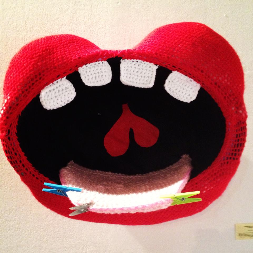 Big Mouth Strikes Again ... Amazing Crochet Mouth By Guerrilla Crochet Casteddu