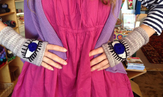 Your Next Project: Knit or Crochet a Pair of Evil Eye Gloves, FREE Patterns!