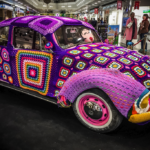 This Yarn Bombed VW Bug is Pure Granny Square Magic – Crochet at its BEST!