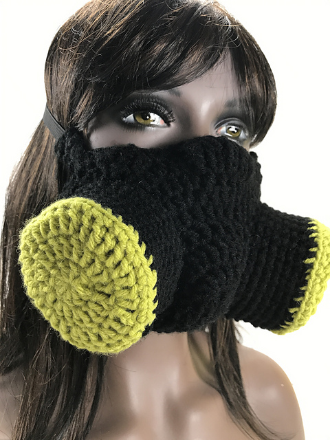 Crochet a Post-Apocalyptic Martian Gas Mask Face Warmer - Perfect For Cosplay