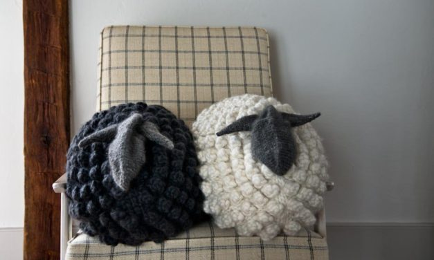 These Bobble Sheep Pillows Are Spectacular and the Pattern is FREE