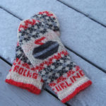 Knit a Pair of Curling Rocks Mittens Designed By Freshisle Fibers