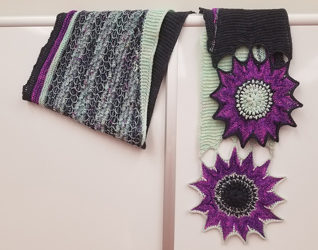 This Knit Sunflowers Wrap Designed By Andree Beddoe Is Breathtaking