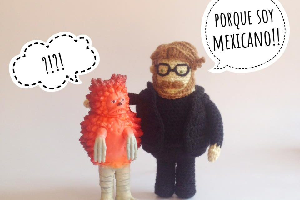 Clever Guillermo del Toro Amigurumi Crocheted By The One and Only Berenice Grimm