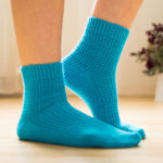 Peacock Socks Designed By Alex Anders, FREE Pattern, Great For Beginners!