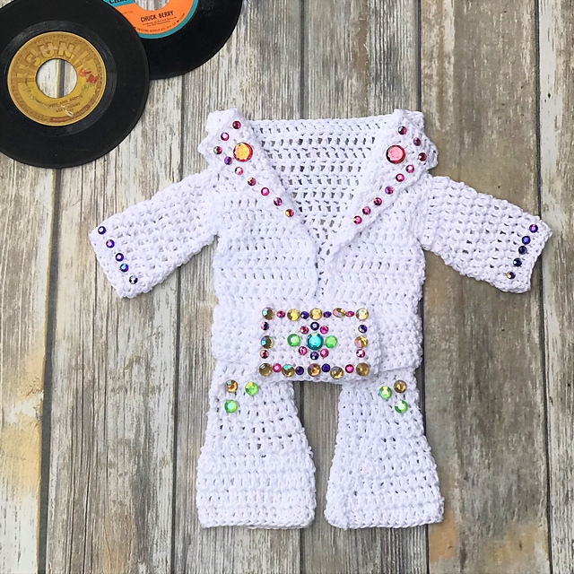 Crochet an Elvis Presley Aloha Hawaii Baby Onesie Jumpsuit - You Have To