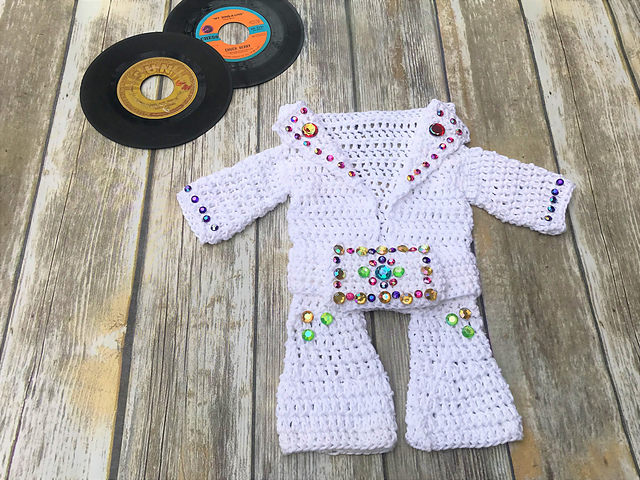 "Crochet an Elvis Presley ""Aloha Hawaii"" Baby Onesie Jumpsuit – You Have To!"