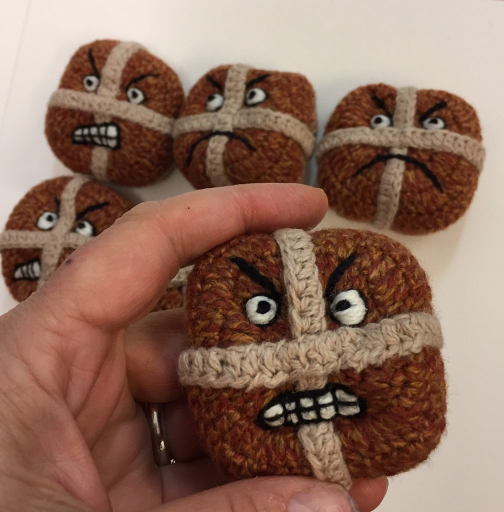 They Hot and They're Cross ... Kate Jenkins' Crocheted Buns Are Like No Other