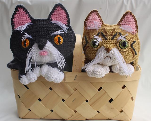 Crochet a Couple of Persian Cat Buddies - Such Pretty Kitties!