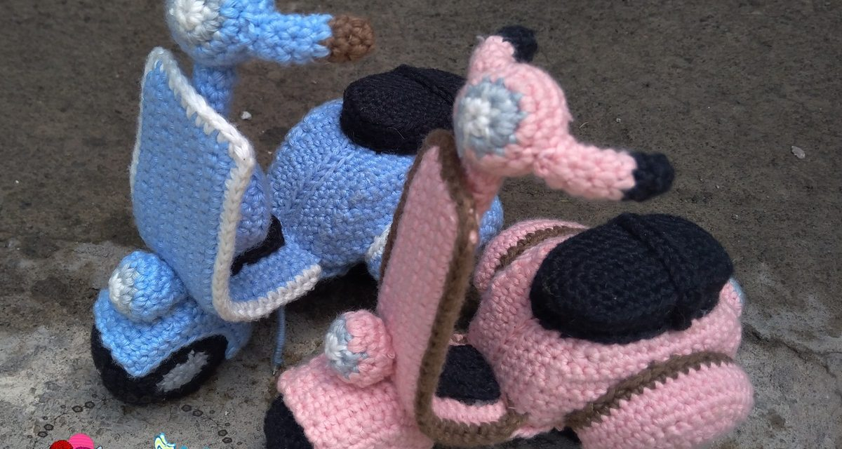 Crochet a Cute Vespa or Maybe Three 'Cause They're So Cute … FREE Pattern Too!