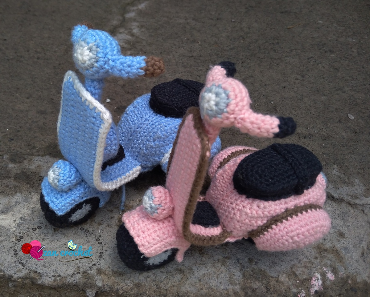 Crochet a Cute Vespa or Maybe Three 'Cause They're So Cute ... FREE Pattern Too!