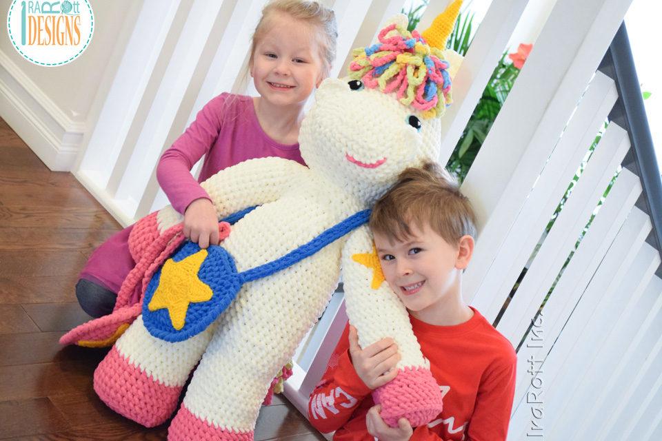 Crochet a Life-Size Unicorn Amigurumi – Sometimes Bigger is Better!