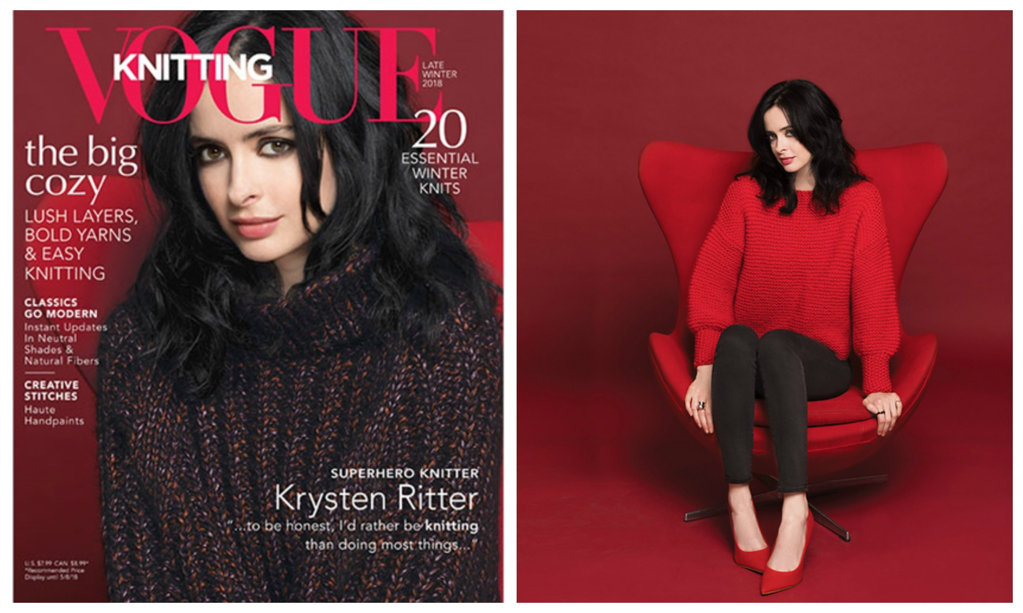 Knit the Sizzling Sweater Krysten Ritter Wears in the Latest Issue ...
