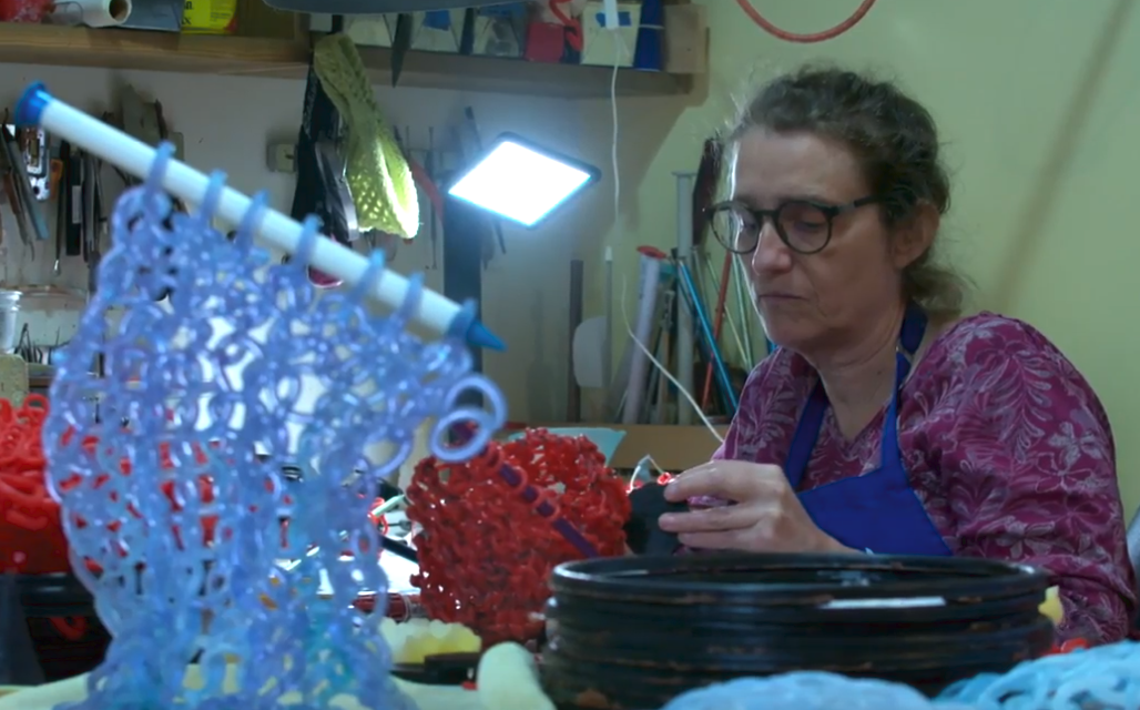 'Knitters Really Are My People' … Glass Artist & Avid Knitter Carol Milne Featured On Art Zone