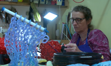 """Knitters Really Are My People"" … Glass Artist & Avid Knitter Carol Milne Featured On Art Zone"