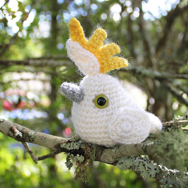 Annette's Cute Crochet Cockatoo
