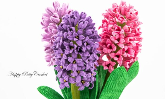 Crochet a Colorful Trio of Hyacinths and Brighten Up a Room For Springtime!
