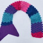 It's a Mermaid Tail and a Scarf … Such a Creative Use of the Crochet Crocodile Stitch Too!