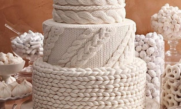 "Amazing ""Cable-Knit"" Wedding Cake Inspired By Ohhio Braid Mega Yarn"