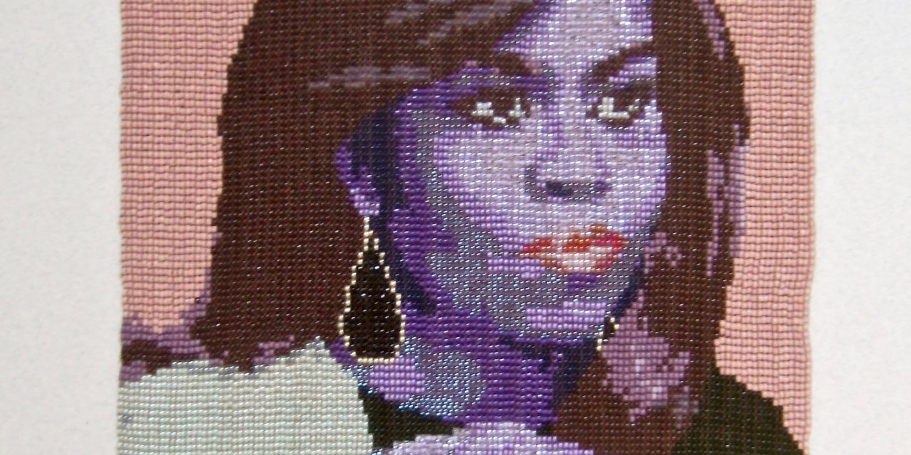 Peggy Dembicer's 'Leading Lady' … a Beautiful Beadweaving of Michelle Obama