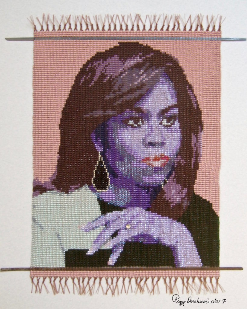 Peggy Dembicer's 'Leading Lady' ... a Beautiful Beadweaving of Michelle Obama