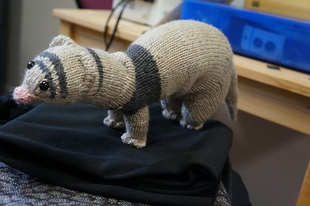 Knit Mayka the Ferret