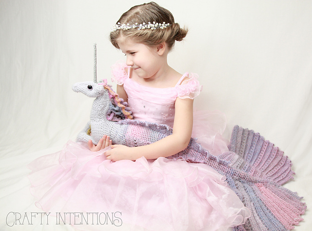 Mermaid Unicorn? Mermicorn? Unimaid? Sea Horse Unicorn? Whatever You Call It, It's Definitely Crochet!