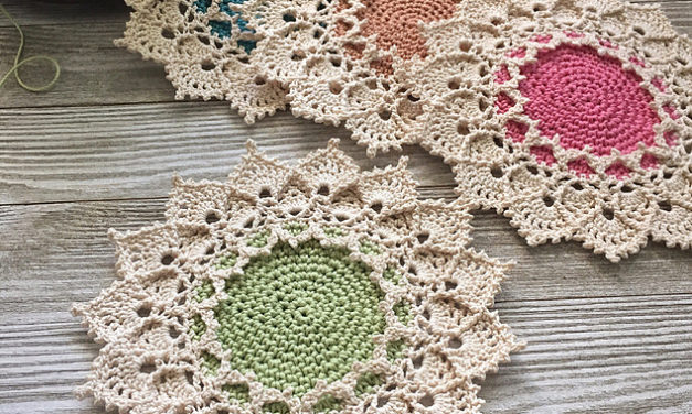 Beautiful Sunmote Doily Designed by Julia Hart – Free Crochet Pattern With a Modern Vintage Look!