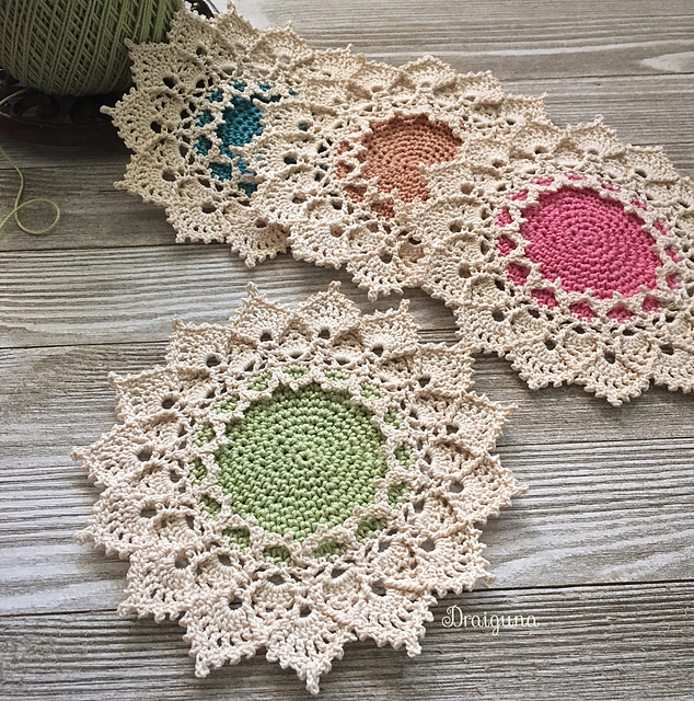 Beautiful Sunmote Doily by Julia Hart - Free Pattern With a Modern Vintage Look!