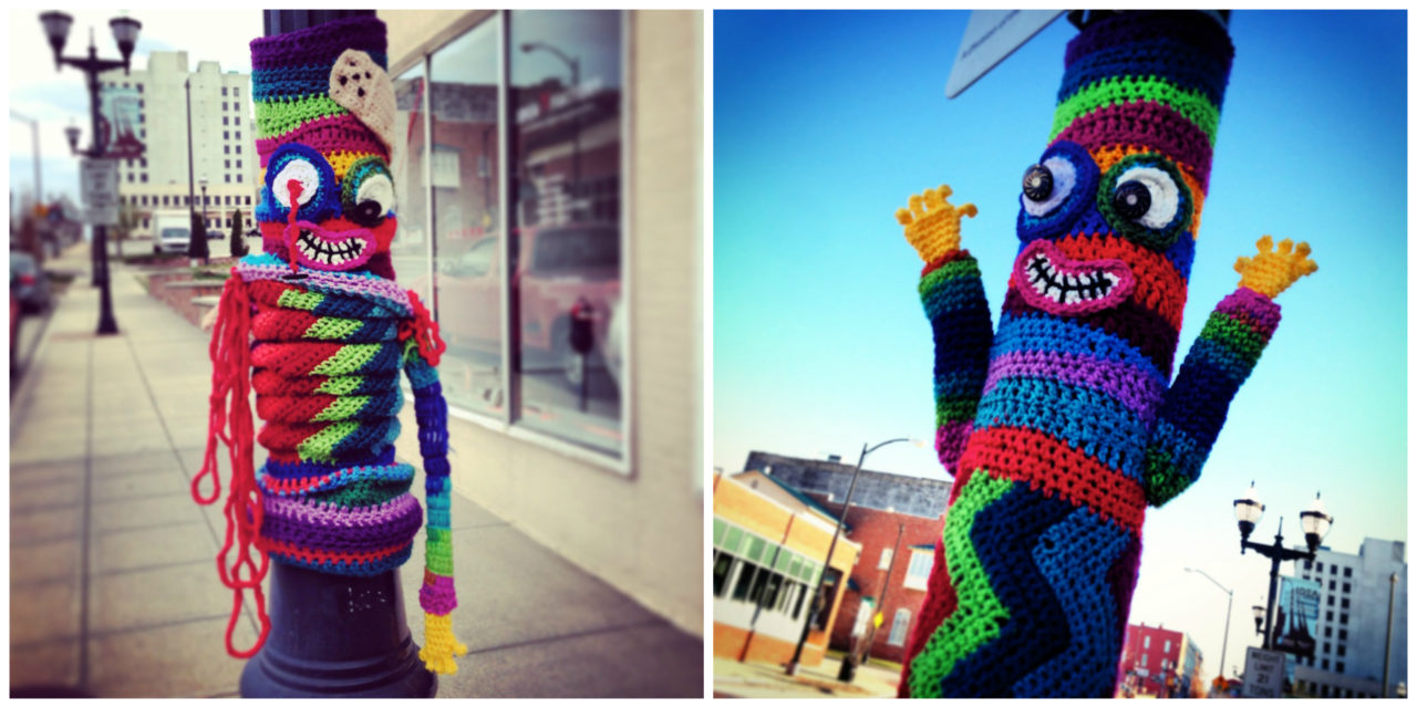 Mr. Happy Zombie Yarn Bomb … Formerly Known As Mr. Happy Hands Yarn Bomb