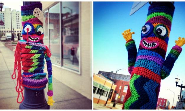 Mr. Happy Zombie Yarn Bomb … Formerly Known As Mr. Happy Hands Yarn Bomb