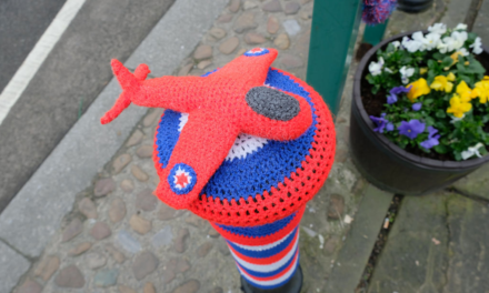 Thirsk Yarn Bombers Celebrate the Royal Air Force's 100th Birthday