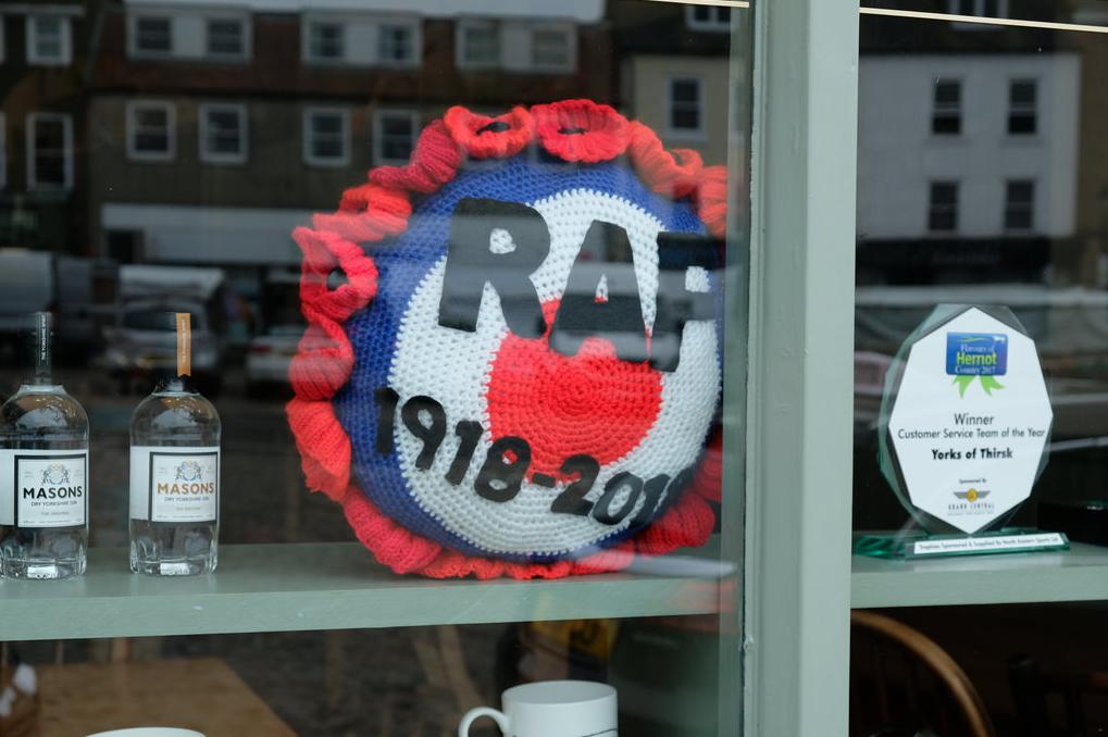 Thirsk Yarn Bombers Celebrate RAF's 100th Birthday