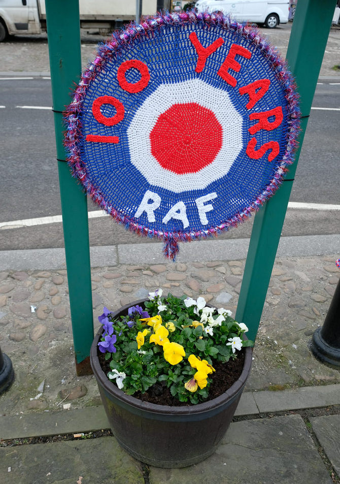 Thirsk Yarn Bombers Celebrate RAF's 100th Birthday