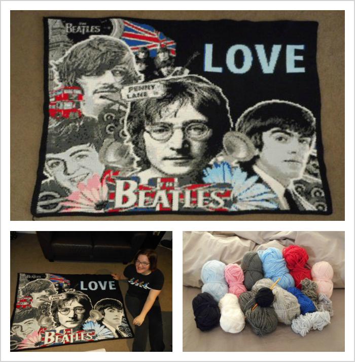 Lee Mac's Crochet Beatles Portrait Graphgan