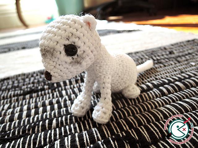 Chipie, The White Ferret Amigurumi