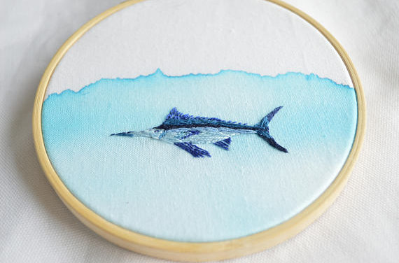 Floor Giebels is the Mixmaster of Watercolor and Embroidery