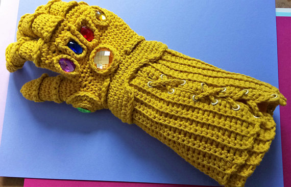 Crochet The Internet-Famous Infinity Gauntlet Designed By AmigurumiBarmy