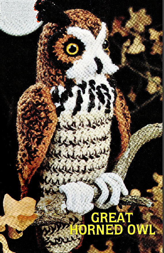 Great Horned Owl - Get This Vintage Bird Pattern