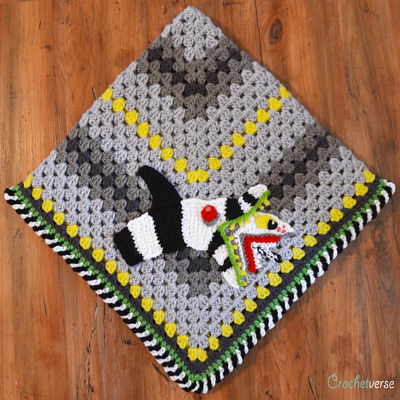 Beetlejuice Fans Will Want to Crochet This Superb Sandworm Appliqué