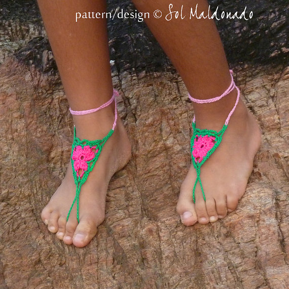 Summer is Coming ... Crochet Barefoot Sandals Are Perfect For The Beach