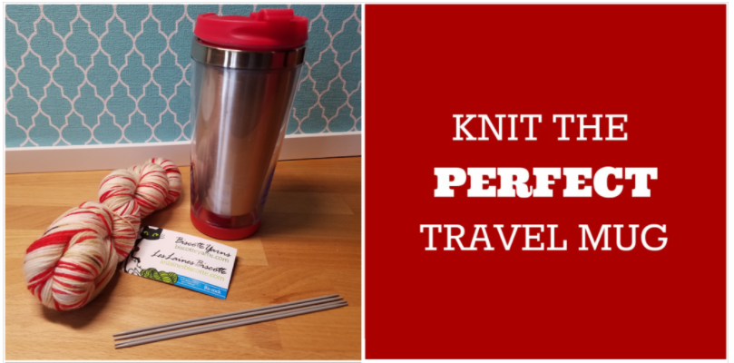 Knit the Perfect Travel Mug Cozy With a Charming Hand-Dyed Yarn Kit From Biscotte Yarns