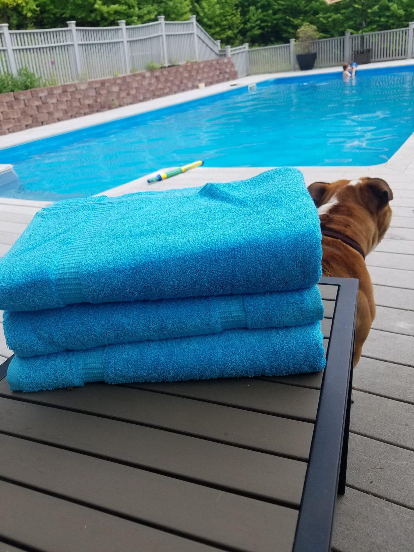SALBAKOS Luxury Hotel & Spa Turkish Cotton 4-Piece Eco-Friendly Bath Towel Set