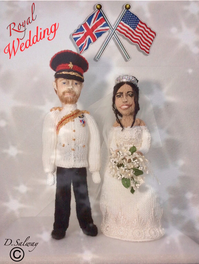 She Knit a Prince Harry and Meghan Markle ... The Duke and Duchess of Sussex in Yarn!