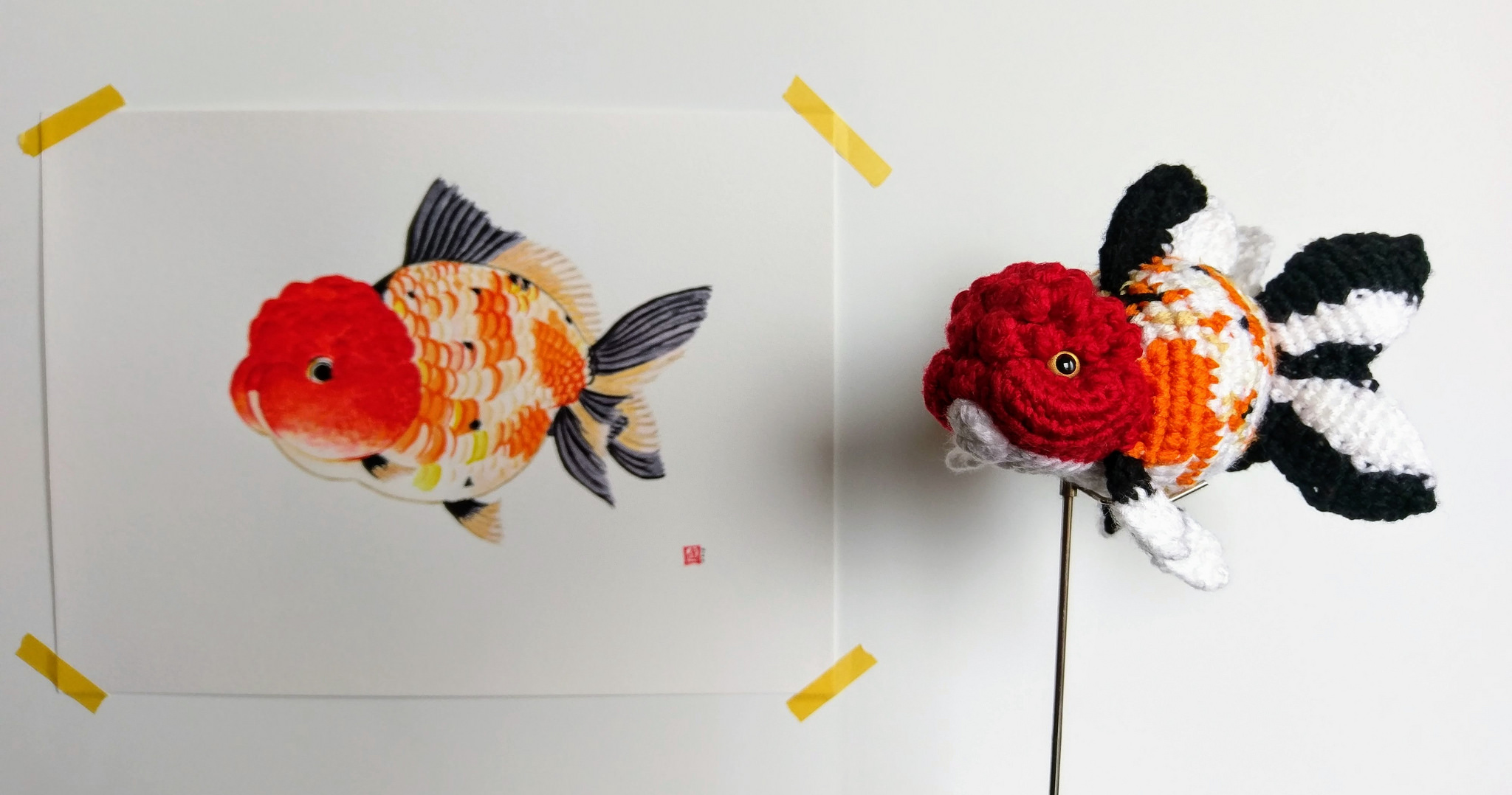 Mingle Doll Crocheted a Fancy Oranda Goldfish!