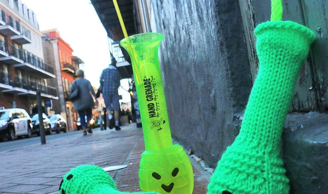 She Knit a Hand Grenade, French Quarter Style!
